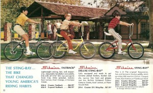 Classic Schwinn Sting-Ray with a banana seat ad