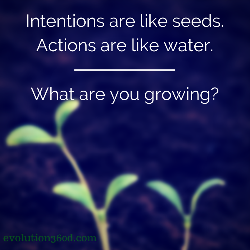 Intentions plus actions equals achieving goals